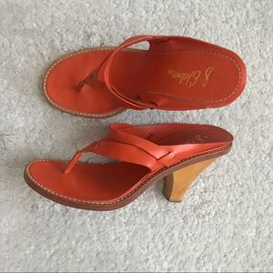 Sam Edelman orange cloth heels